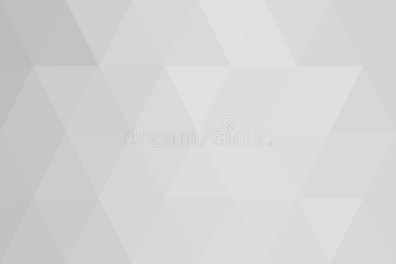 Gradient blanc de triangles abstraites pour le fond styl géométrique illustration libre de droits