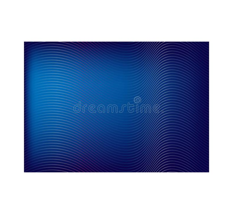 Gradient bleu avec les lignes abstraites d'arc-en-ciel sur le fond de conception image stock