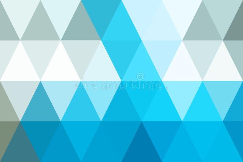 Gradient bleu de ton de triangles abstraites pour le fond géométrique illustration libre de droits