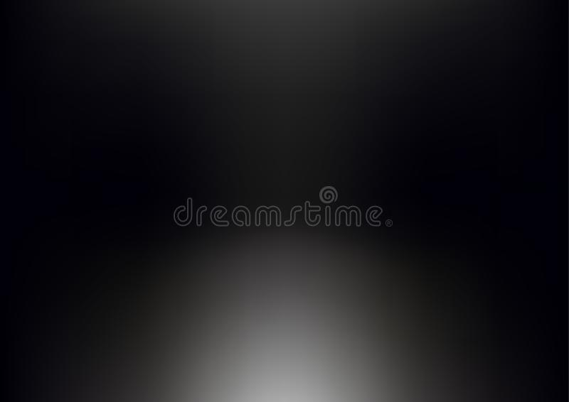 Gradient blue black abstract background vector illustration. royalty free illustration