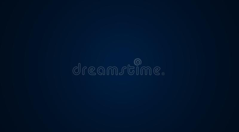 Gradient blue color background with light concentric circles royalty free stock images