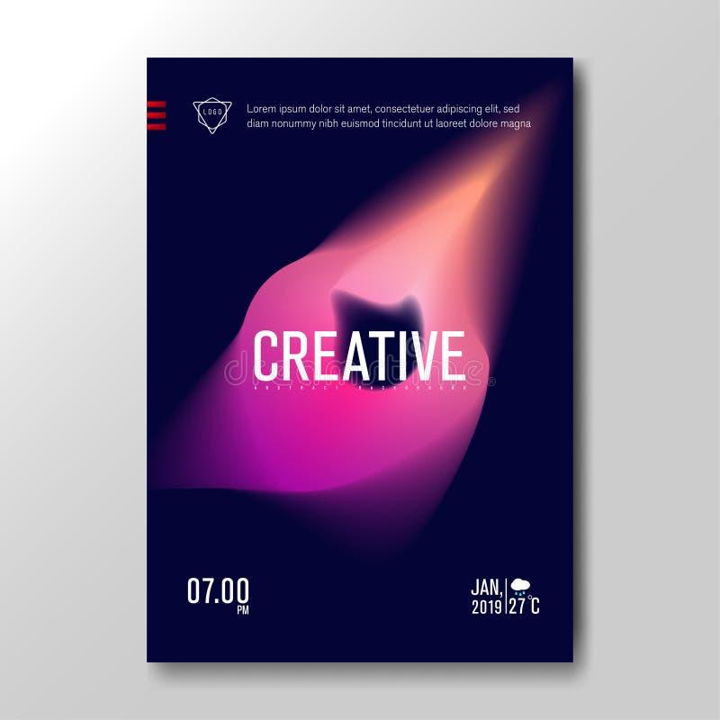 Gradient brouillé liquide moderne avec le fond coloré mou pour l'affiche, carte d'invitation, brochure, la publicité, plaquette,  illustration de vecteur