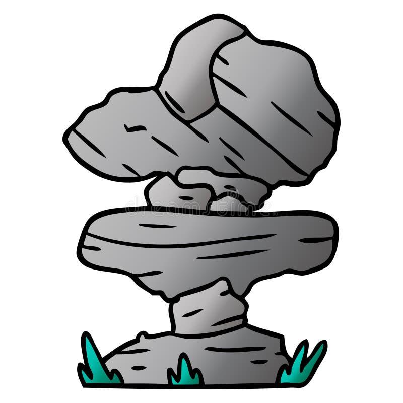 Gradient cartoon doodle of grey stone boulders. A creative illustrated gradient cartoon doodle of grey stone boulders vector illustration