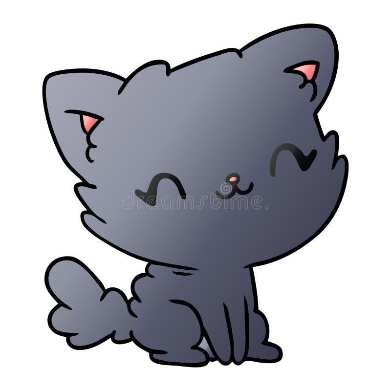 Gradient Cartoon Kawaii Kitten Cat Animal Pet Art Illustration