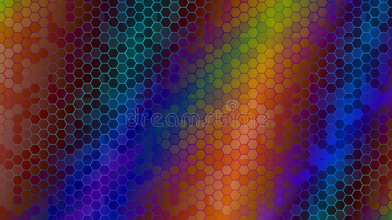 Gradient color abstract light background with glittery colored shiny bokeh stars. Sparkling glittered particles on colored background for placard, banner and royalty free illustration