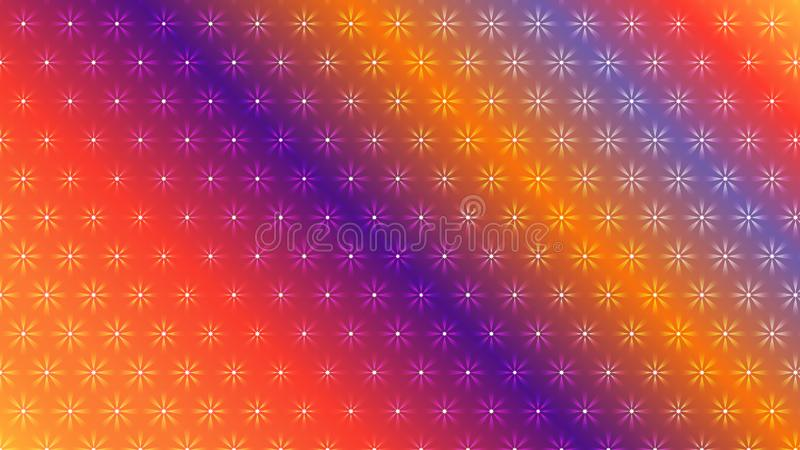Gradient color abstract light background with glittery colored shiny bokeh stars. Sparkling glittered particles on colored background for placard, banner and stock illustration