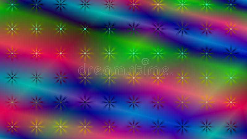 Gradient color abstract light background with glittery colored shiny bokeh stars. Sparkling glittered particles on colored background for placard, banner and vector illustration