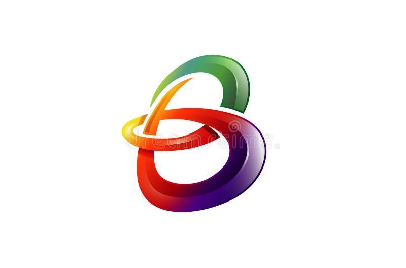 Gradient Colorful B Letter Logo royalty free illustration