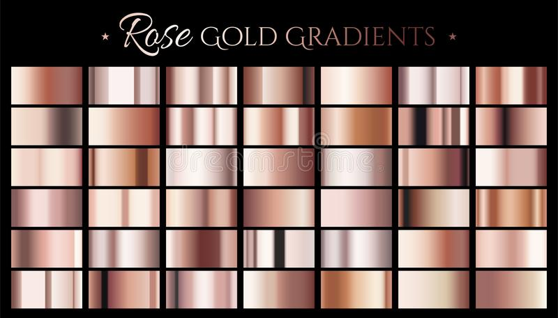 Gradient de couleur d'or de Rose illustration stock