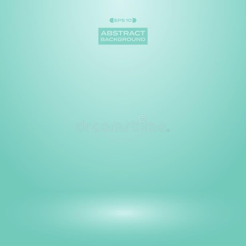 Gradient de studio de fond de couleur de menthe de vert de turquoise de tache floue illustration de vecteur