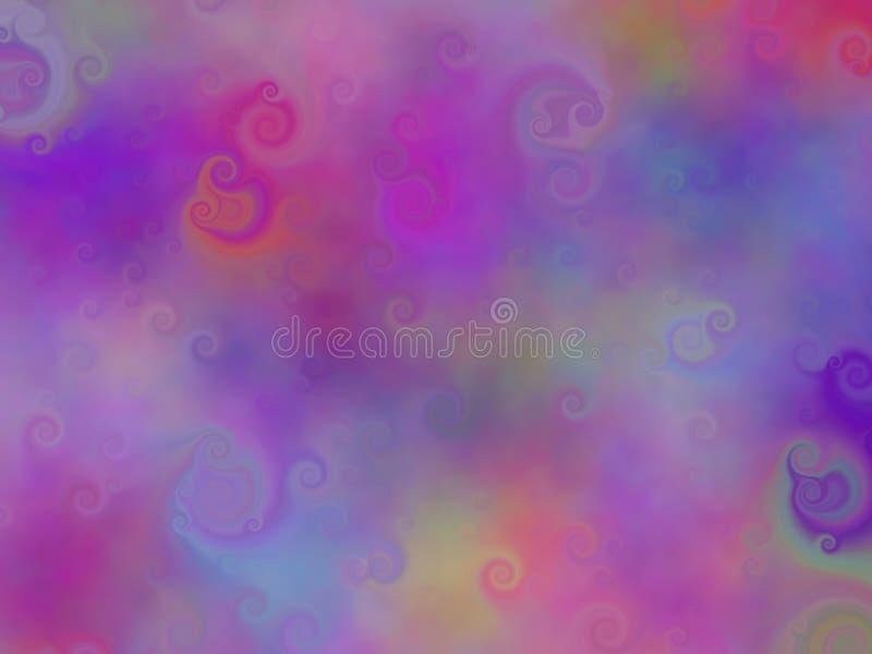 Gradient decorative dynamic violet forms stock illustration