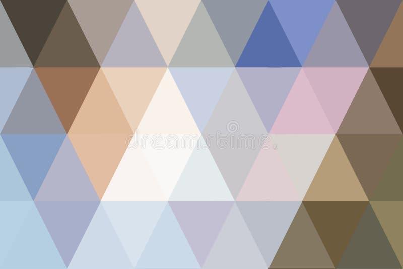 Gradient en pastel de triangles abstraites pour le fond étable géométrique illustration stock