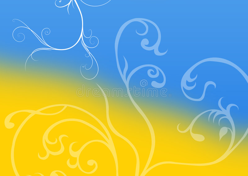 Gradient Floral background royalty free illustration