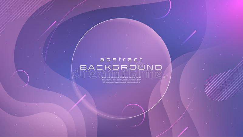 Gradient fluid blue pink soft color abstract background. Liquid shapes futuristic concept. Creative motion geometric stock illustration