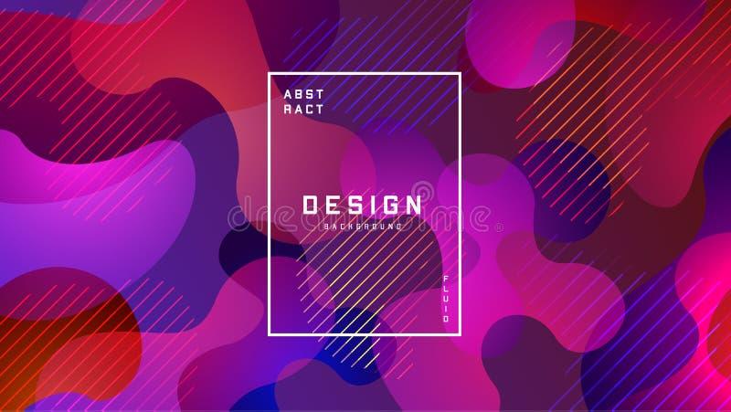 Gradient fluid colorful background. Liquid shapes futuristic concept. Creative geometric wallpaper. Design for Banners vector illustration