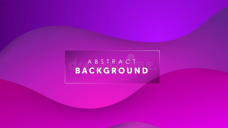 Gradient fluid purple color background. Liquid shapes futuristic concept. Creative wavy wallpaper. Design for Banners royalty free illustration