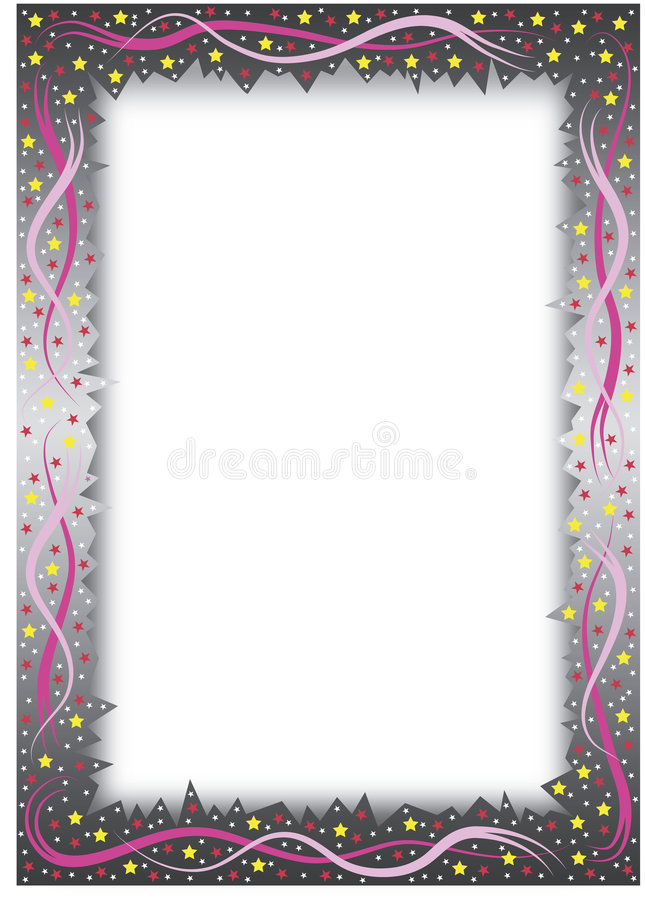 Gradient frame with stars stock illustration