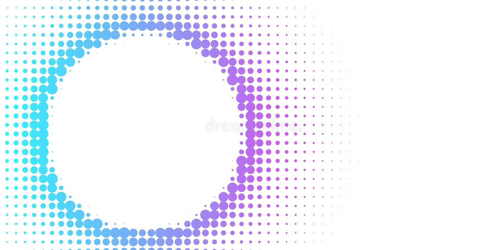 Gradient  futuristic pattern. Halftone colorful gradient background for design decoration. Abstract business bright grunge background. Minimal geometric royalty free illustration