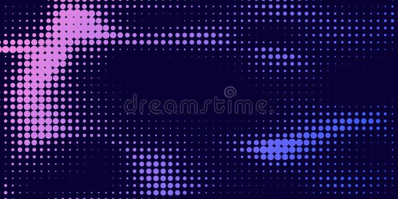 Gradient  futuristic pattern. stock illustration