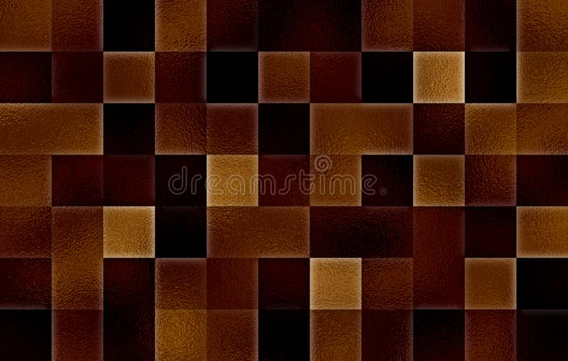 Gradient geometric square blocks. Glass texture. Abstract background.  royalty free stock image