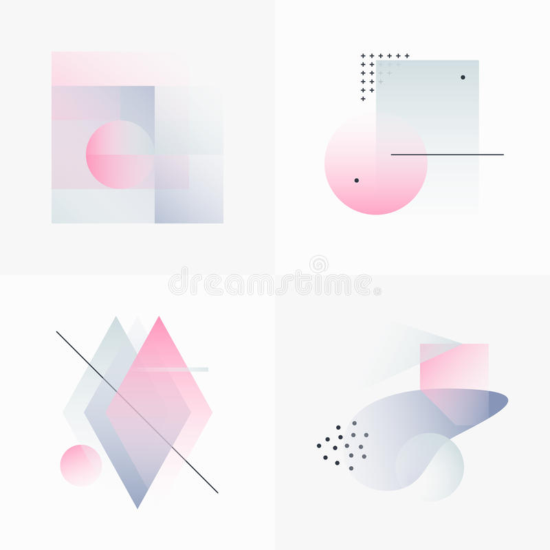 Gradient Geometry Forms 09 stock illustration
