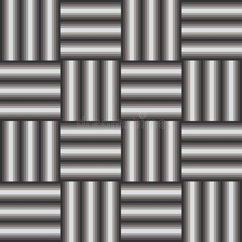 Gradient grayscale bars in mozaic pattern stock photo