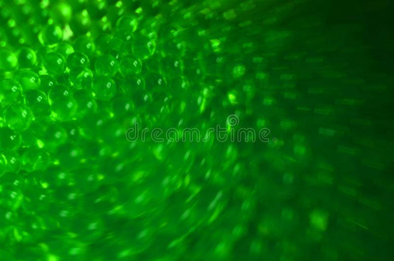 Gradient green blurred balls background royalty free stock image