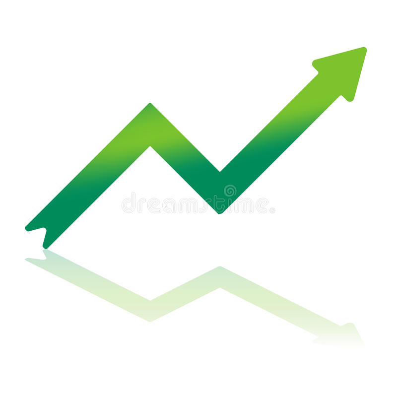 Download Gradient Green Growth Arrow Stock Vector - Illustration of pointing, reflection: 22026322