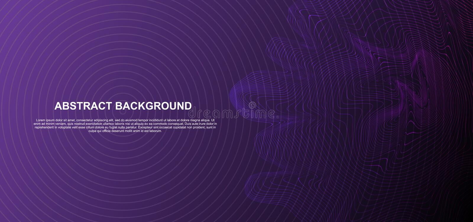 Gradient grid techno lines, hi-tech futuristic abstract background template with geometric shapes vector illustration ultra violet. Colors, space, cover, fluid royalty free illustration