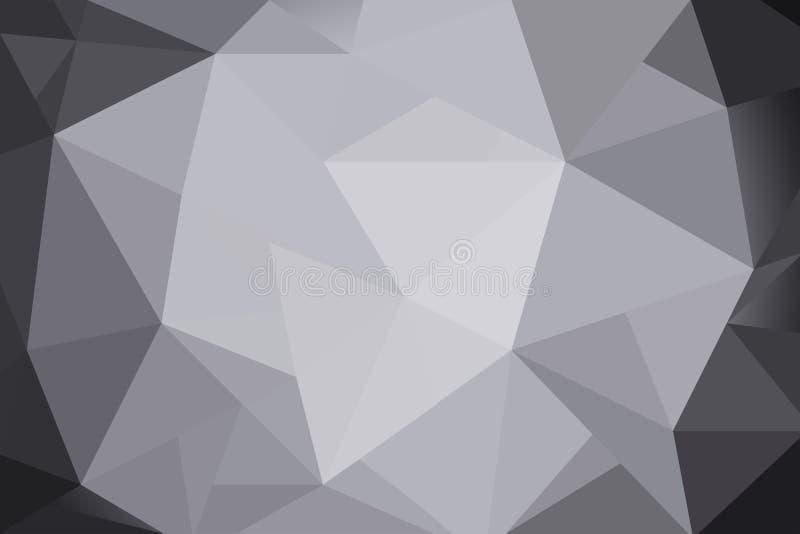 Gradient gris de triangles abstraites pour le fond Style géométrique illustration libre de droits
