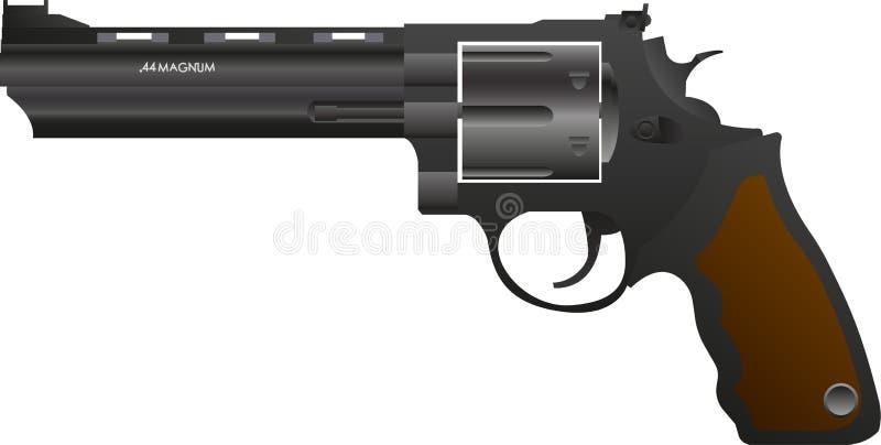 Gradient gun .44 magnum royalty free illustration