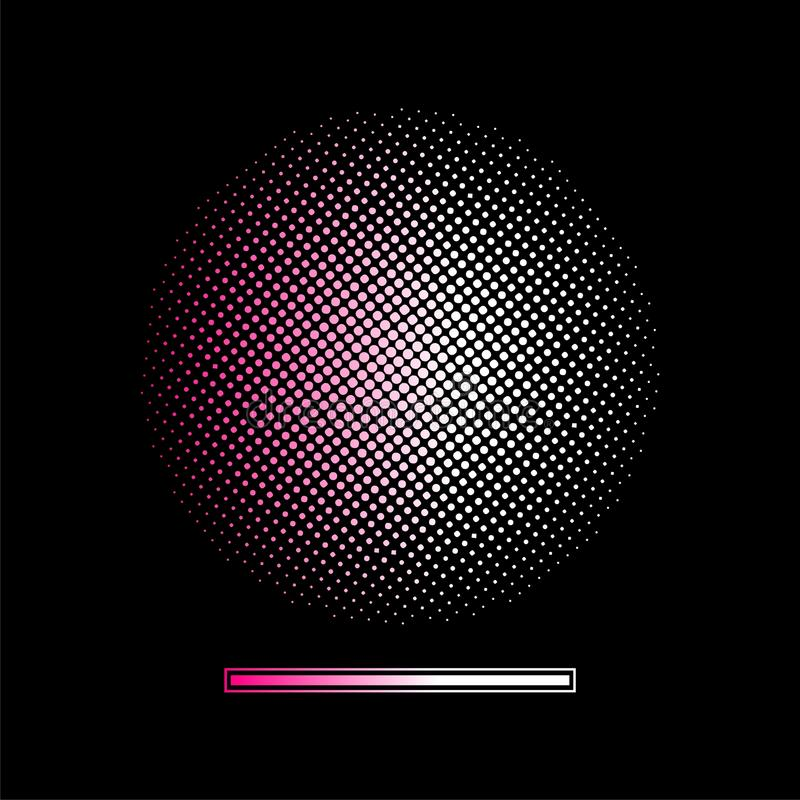 Gradient halftone vector background. Halftone background(vector design element royalty free illustration
