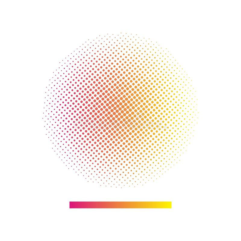 Gradient halftone vector background. Halftone background (vector design element stock illustration