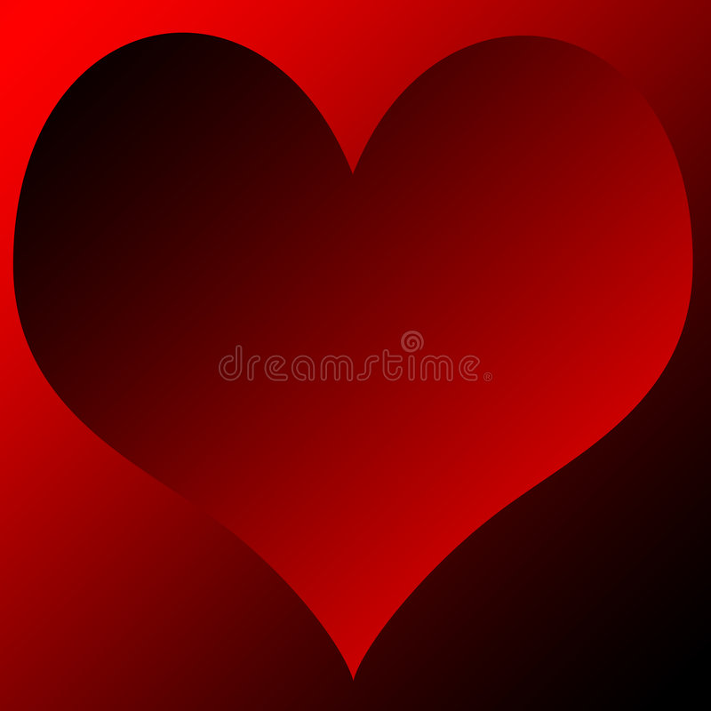 Gradient Heart. Abstract illustration of a red gradient heart stock illustration