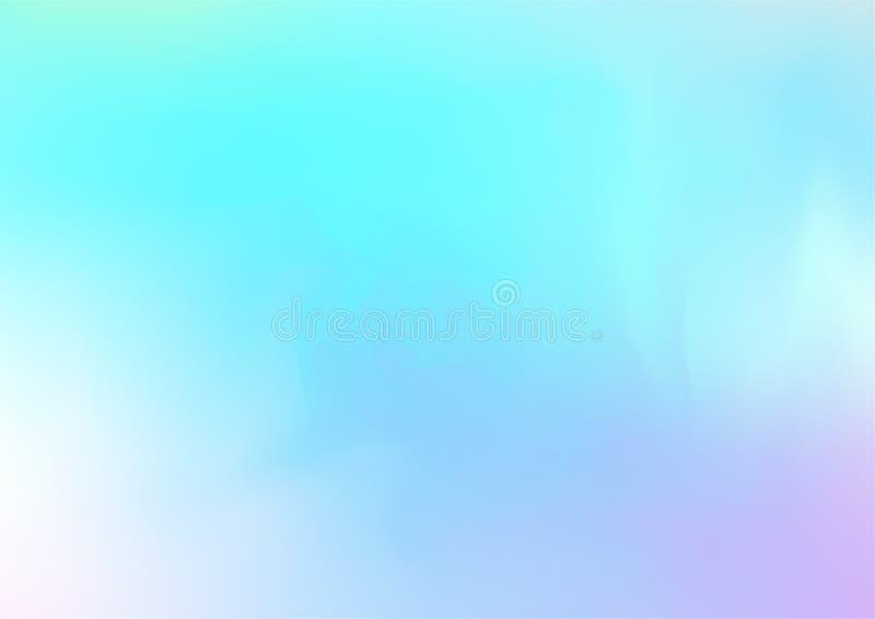 Gradient iridescent de Girlie d'arc-en-ciel, papier peint liquide olographe d'affiche Bannière fraîche féerique de Web d'hologram illustration libre de droits