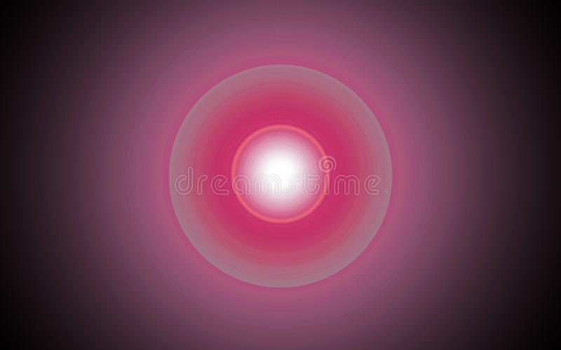 Gradient light flare on a black background royalty free stock photos