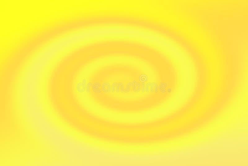 Gradient lumineux brouillé de torsion d'or jaune, fond clair jaune d'effet de vague de remous, mur léger mou de gradient jaune d' illustration libre de droits