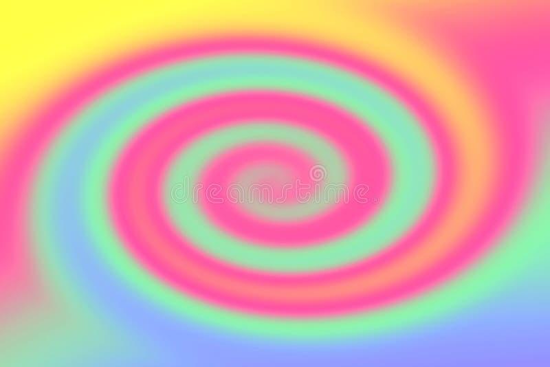 Gradient lumineux coloré brouillé de torsion, fond clair coloré d'effet de vague de remous d'arc-en-ciel, papier peint mou de gra illustration libre de droits