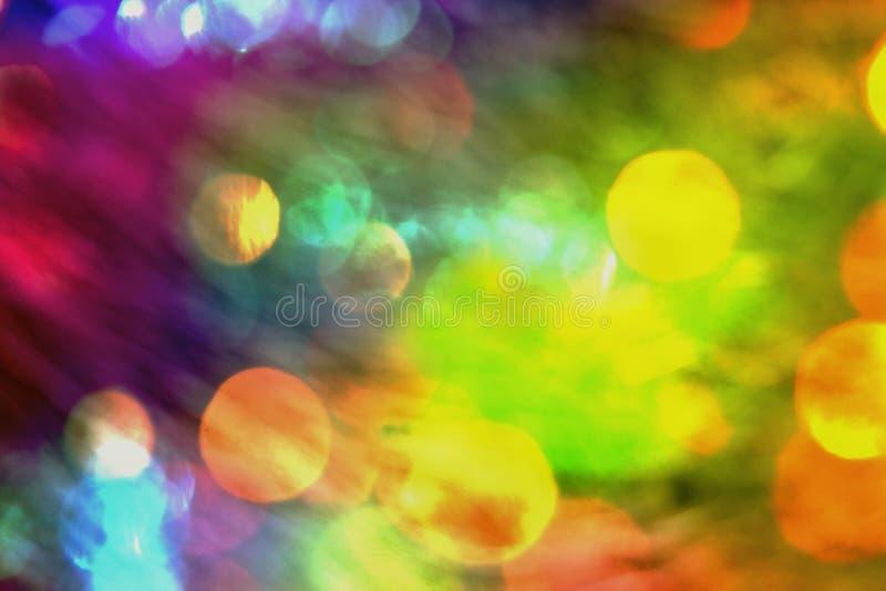 Gradient multicolore brouillé par fond avec l'éclat et le bokeh image libre de droits