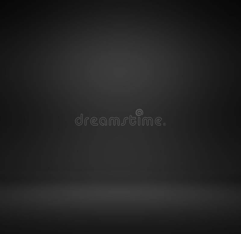 Gradient noir de luxe abstrait avec le backgr de vignette de noir de frontière photographie stock