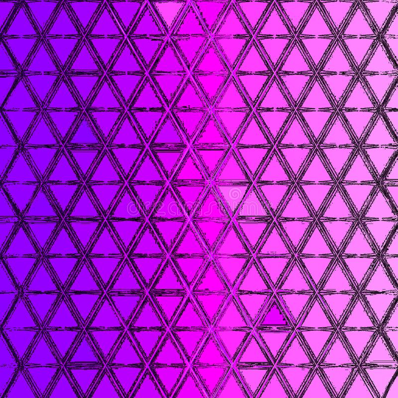 Gradient pattern of small triangles in ultra violet and purple colors. Pattern of small triangles in ultra violet and purple colors royalty free illustration