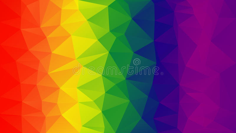 Gradient polygon background. The spectral pattern. royalty free illustration