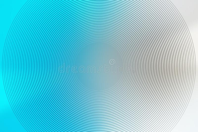 Gradient radial background, blue sky, blur smooth soft texture wallpaper abstract. Gradation stock illustration