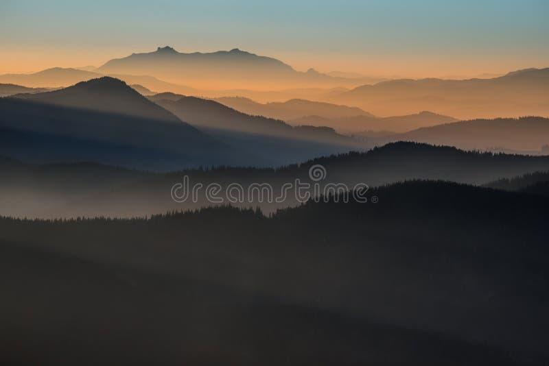 Gradient sky stock photography