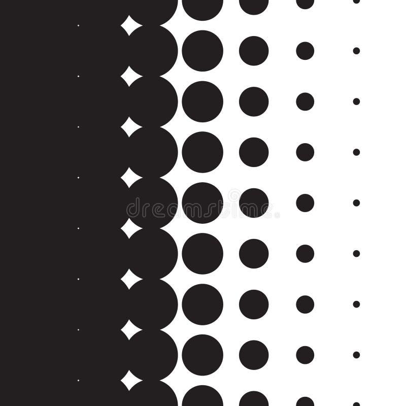 Gradient tramé de modèle de points dans le format de vecteur illustration stock