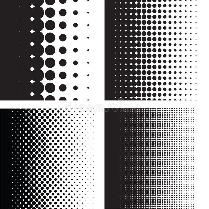Gradient tramé de modèle de points dans le format de vecteur illustration libre de droits