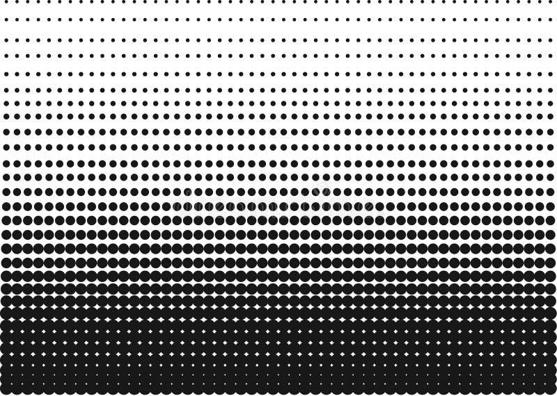 Gradient tramé noir et blanc comme fond ou motif à être art de bruit utilisé ou rétros bandes dessinées Clipart (images graphique photo stock
