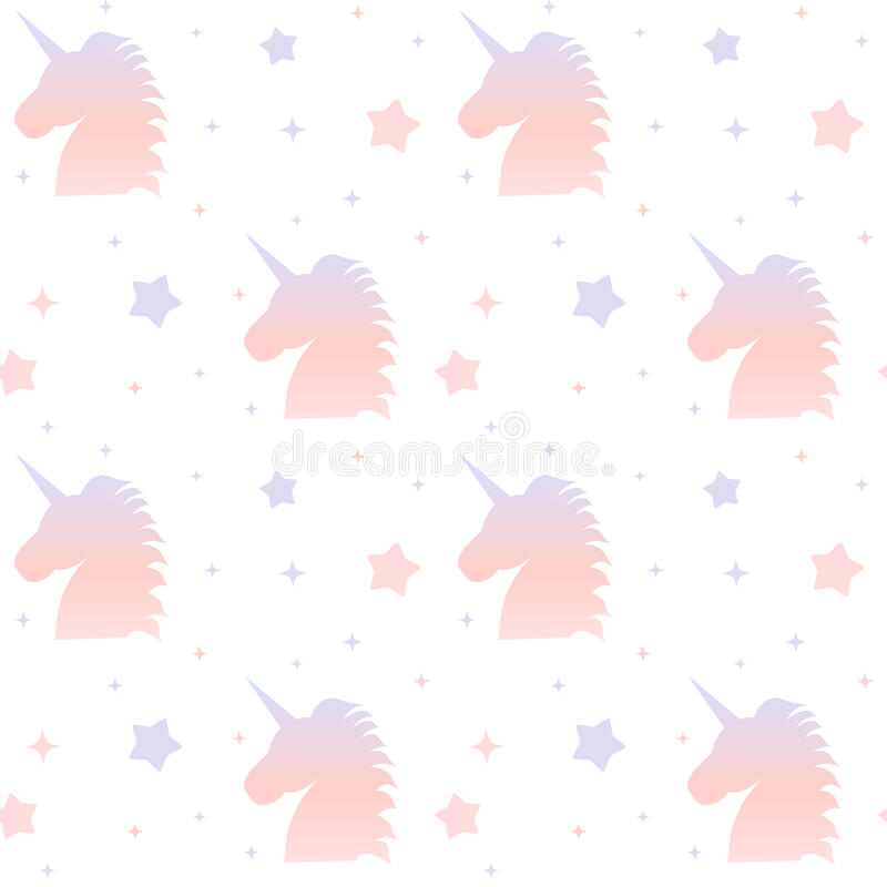 Download Gradient Unicorn Silhouette Seamless Pattern Background Illustration Stock