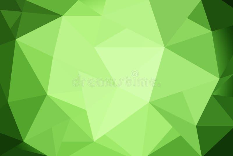 Gradient vert de triangles abstraites pour le fond styl géométrique illustration de vecteur