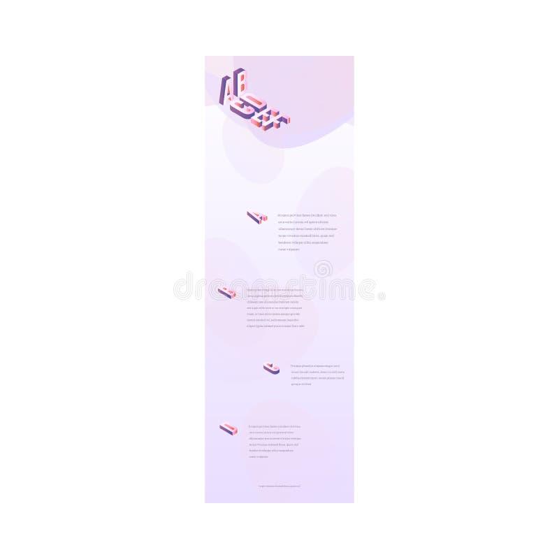 Gradient vibrant à la mode de page d'atterrissage de vecteur illustration stock